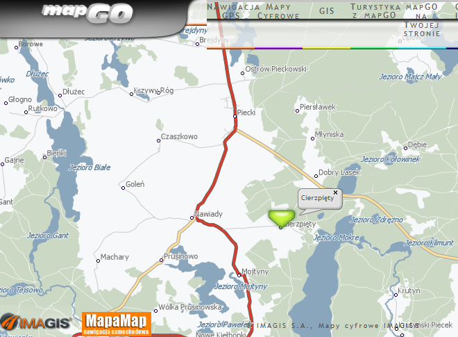 Click on the picture, to open the site mapgo.pl