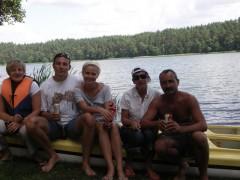 Jesteśmy na spływie-jezioro Gant