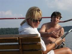 Karin i Marek na posterunku wędkarskim